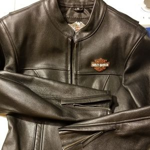 Women's Harley Davidson Leather Coat Small